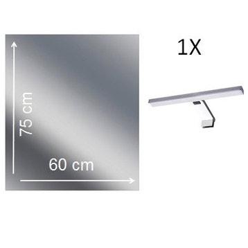 Miroir lumineux de salle de bains - Miroir de salle de bains ...
