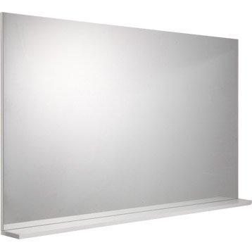 Miroir avec tablette blanc, l. 120.0 cm Opale