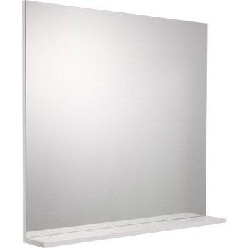 Miroir avec tablette blanc, l. 80.0 cm Opale