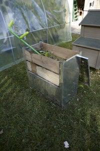 composteur en bois et en metal leroy merlin. Black Bedroom Furniture Sets. Home Design Ideas