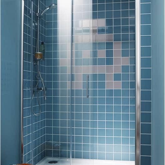 Porte de douche coulissante, transparent, Remix2   Leroy Merlin
