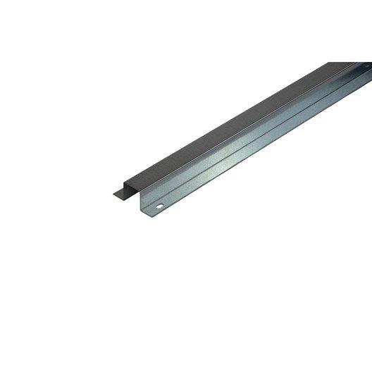 Goulotte produit de finition goulotte clim gris acier galvanis leroy merlin - Goulotte electrique exterieur ...