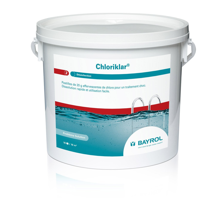 chlore choc piscine bayrol chloriklar pastille 5 l 5 kg