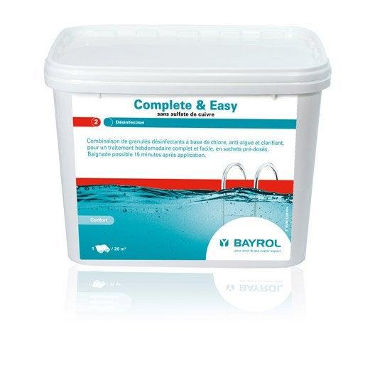 Kit d 39 entretien piscine bayrol 16 traitements complets for Kit entretien piscine