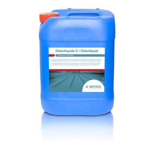 Chlore lent piscine bayrol chloriliquid liquide 25 kg for Chlore liquide piscine