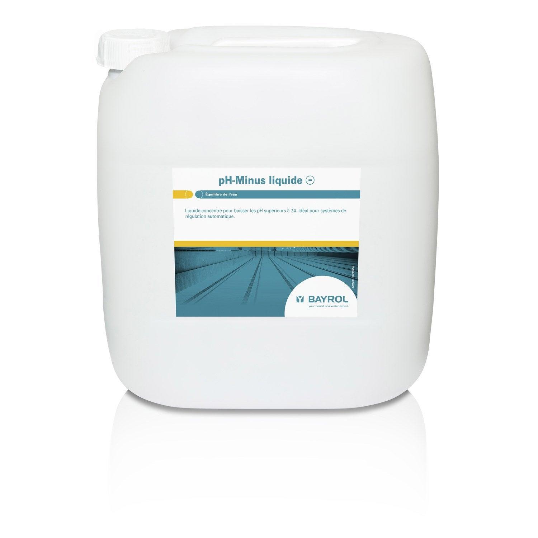 R ducteur de ph piscine bayrol liquide 10 l 25 kg leroy for Produit piscine bayrol