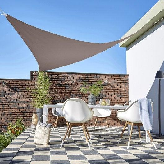 voile d 39 ombrage toile tendue terrasse jardin leroy merlin. Black Bedroom Furniture Sets. Home Design Ideas