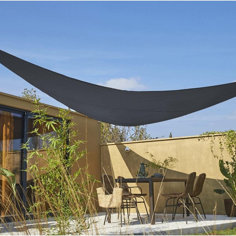 Voile d\'ombrage triangulaire gris paris L.500 x l.500 cm | Leroy Merlin