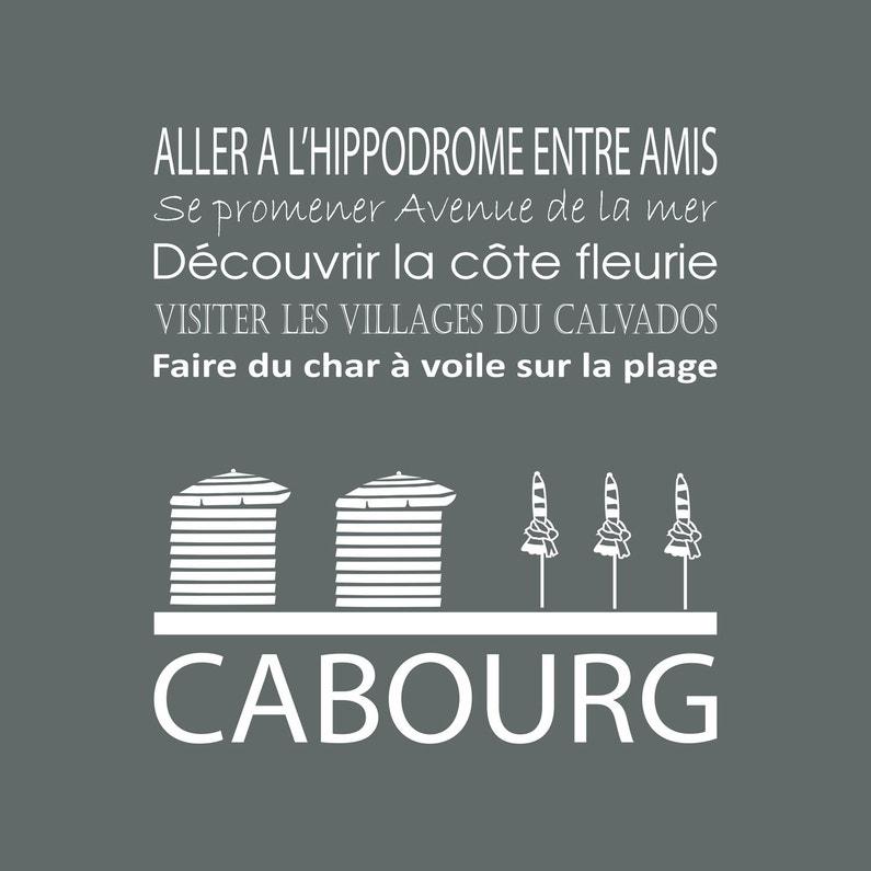 Toile Imprimée Cabourg Gris Artis L30 X H30 Cm