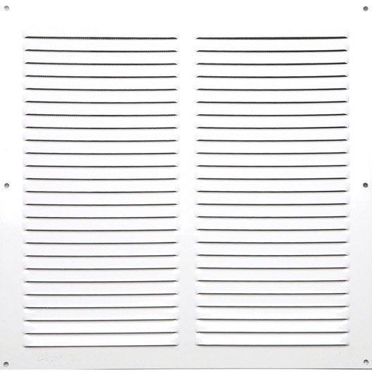 grille d'aération aluminium laqué, l.30 x l.30 cm | leroy merlin