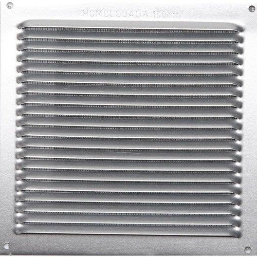 grille d'aération aluminium anodisé, l.17 x l.17 cm | leroy merlin