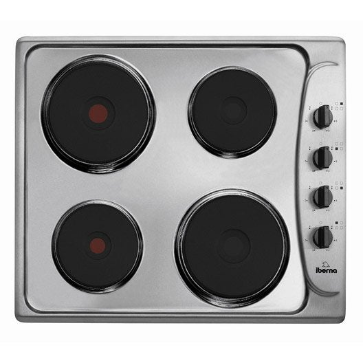 Plaque de cuisson lectrique 4 foyers inox iberna pi64ex - Leroy merlin plaque de cuisson ...