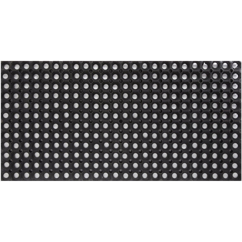 Paillasson Caoutchouc Noir L 100 X L 50 Cm Ring Rubber Mat Leroy