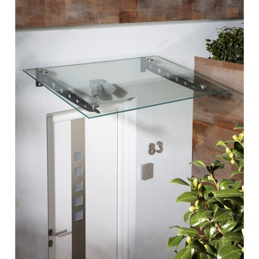 verre pour auvent transparent, l.140 x p.90 x h.1.176 cm | leroy