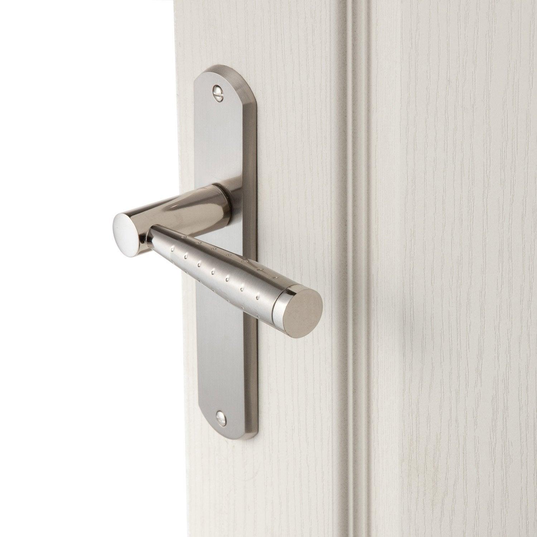 2 poign es de porte nine sans trou inspire zinc 165 mm leroy merlin. Black Bedroom Furniture Sets. Home Design Ideas
