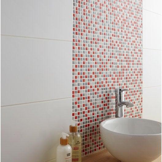 Mosa que mur pop gris et rouge leroy merlin - Mosaique adhesive leroy merlin ...