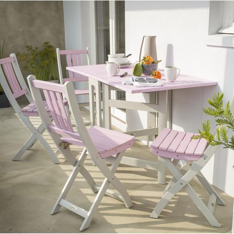 Salon de jardin Burano rose, 4 personnes | Leroy Merlin