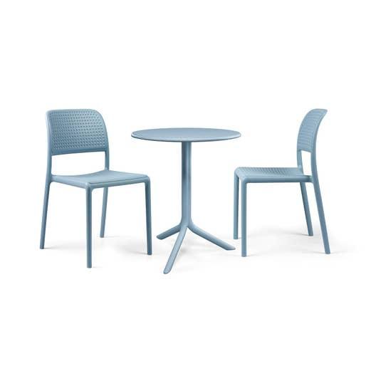 salon de jardin bora nardi bleu 2 personnes leroy merlin. Black Bedroom Furniture Sets. Home Design Ideas