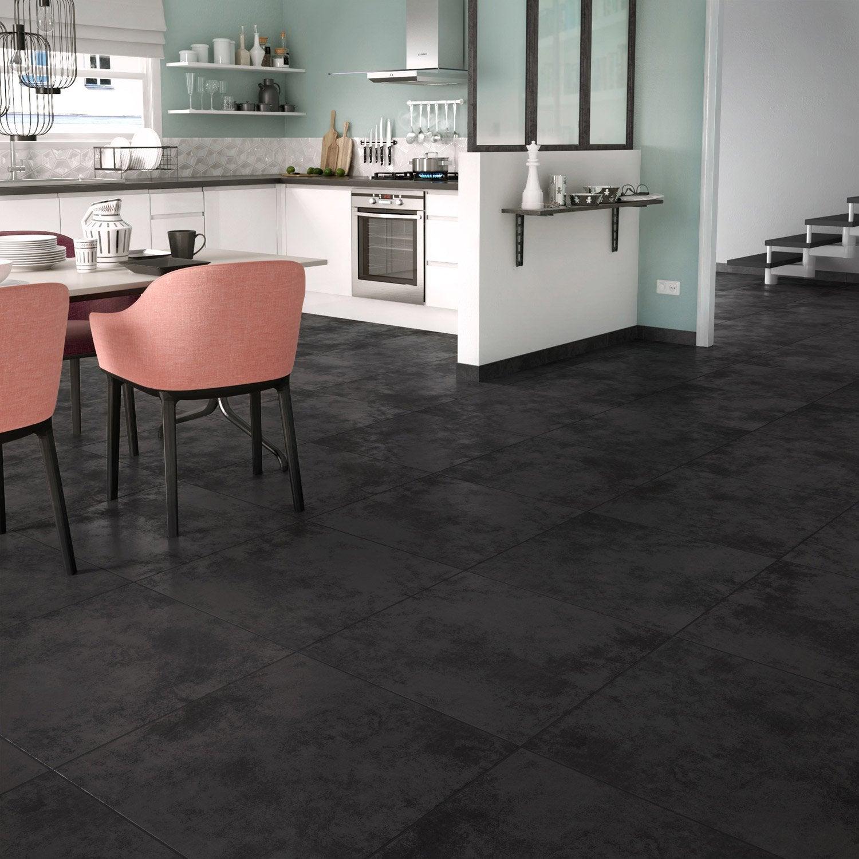carrelage sol et mur forte effet b ton noir toron x. Black Bedroom Furniture Sets. Home Design Ideas