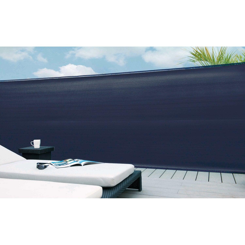 brise vue poly thyl ne naterial bleu marine 100 h 1 cm x. Black Bedroom Furniture Sets. Home Design Ideas