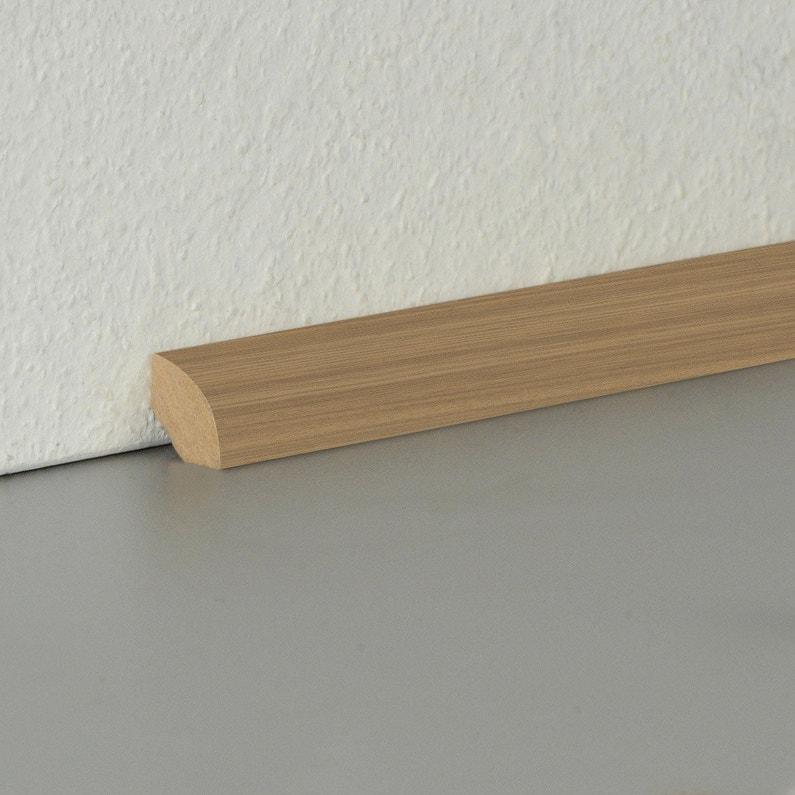 quart-de-rond parquet et sol stratifié décor n°160, l.220 cm x h.14