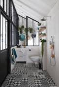 Une salle de bains au style vintage industriel leroy merlin for Bains manpreet s md