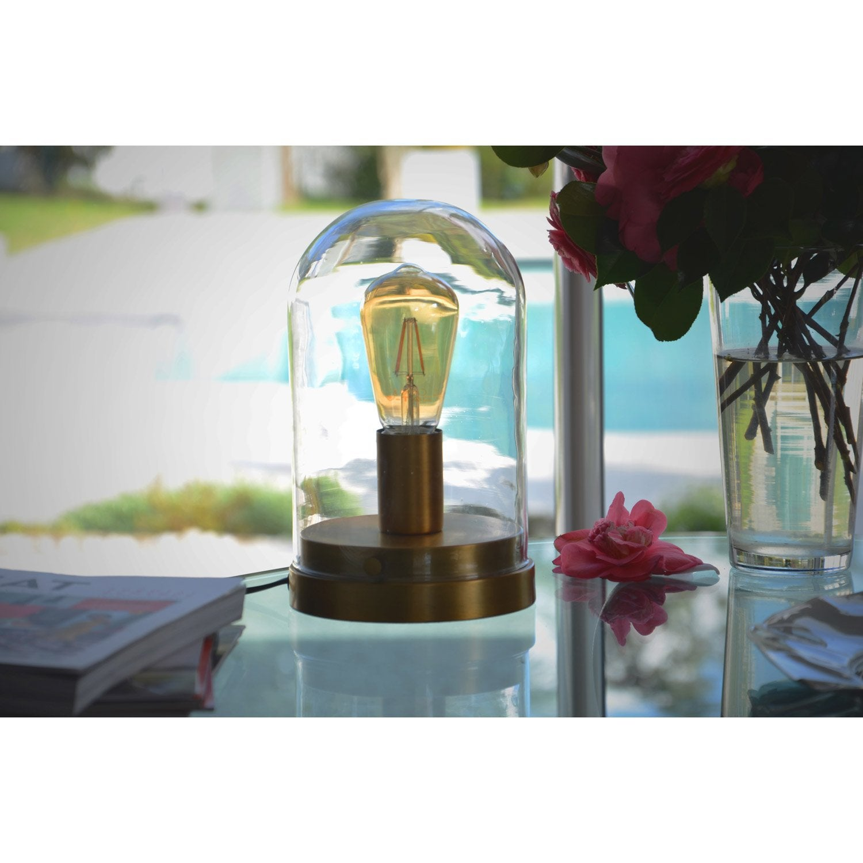 Lampe E27 Lirton Verre Transparent 60 W Lampe De Chevet