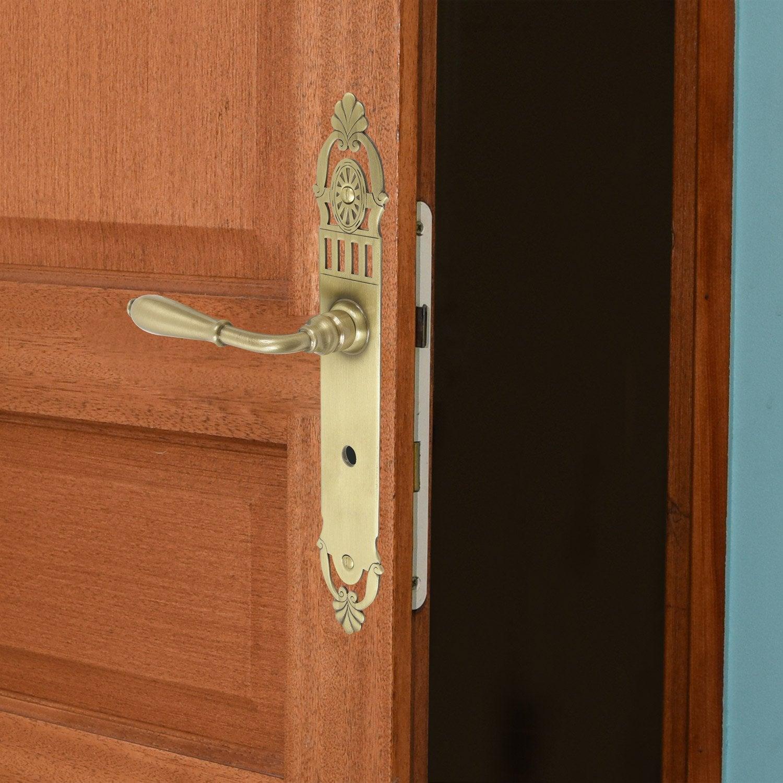 poign e de porte mansart d condamnation laiton 195 mm leroy merlin. Black Bedroom Furniture Sets. Home Design Ideas