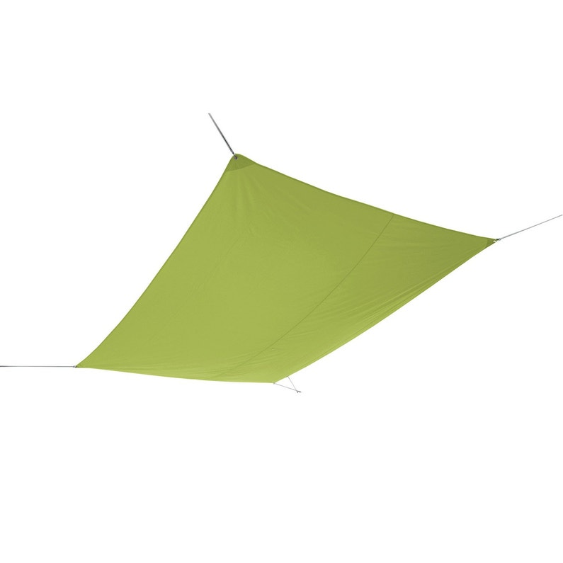 Voile d\'ombrage rectangulaire vert jojoba L.400 x l.300 cm
