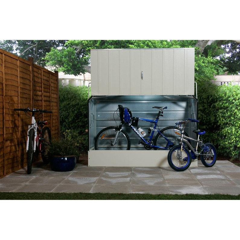 Abri à Vélo Métal Bicycle Store Crème L 196 X H 133 X P 89