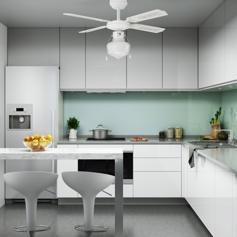 Ventilateur De Barbade W Plafond Canné60 InspireBlanc CxBerdo