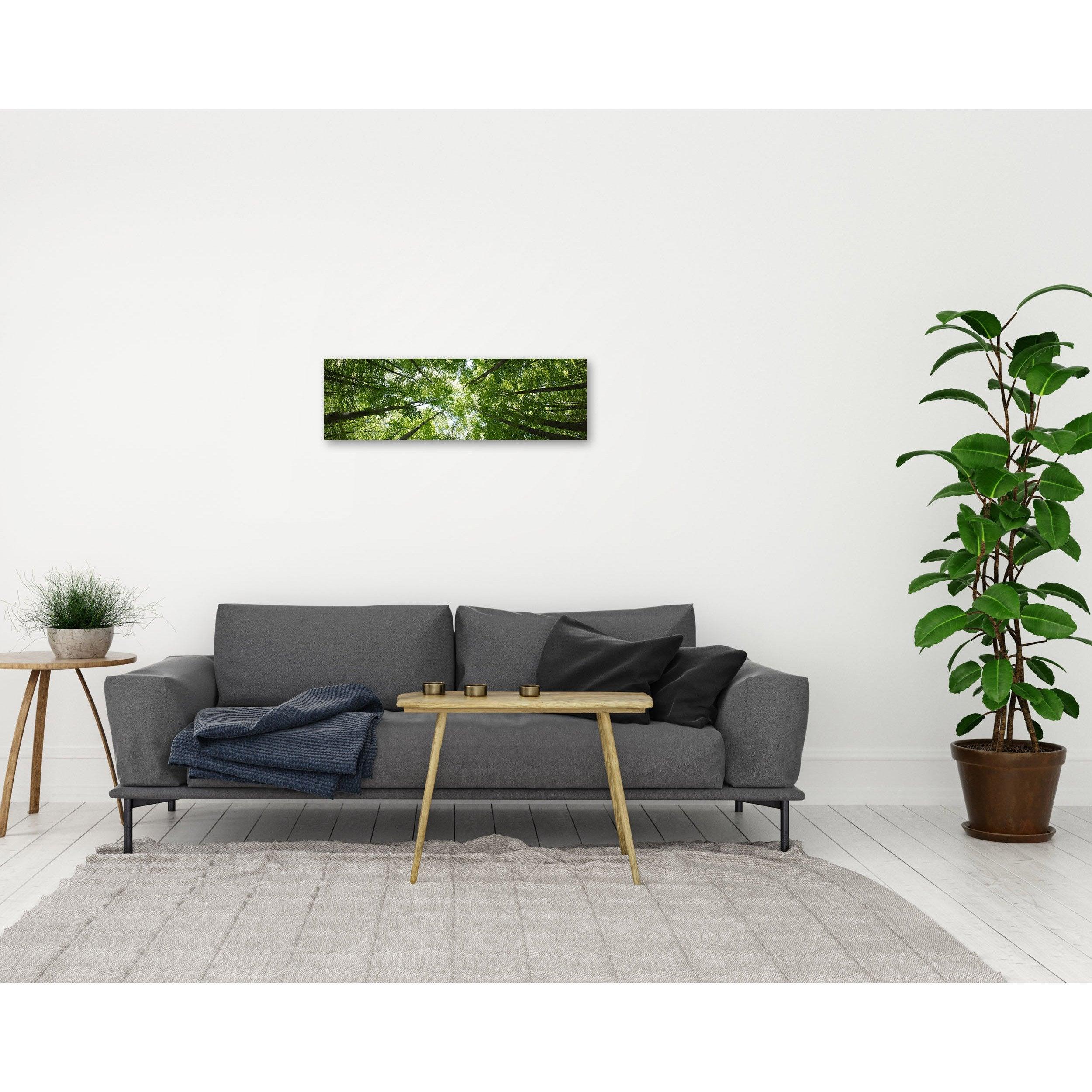Verre imprimé FORET, vert, blanc et noir ARTIS l.95.5 x H.30 cm