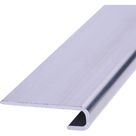 Profil de d part aluminium aluminium 8 x 30 mm 2 7 m leroy merlin - Corniere alu leroy merlin ...
