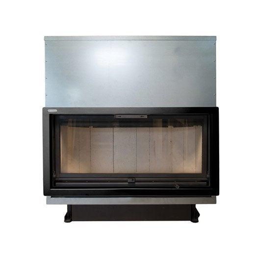 Insert à bois façade droite ARTWOOD Plasma 137 cm 17.5 kW