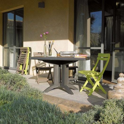 Salon de jardin Vega GROSFILLEX taupe | Leroy Merlin