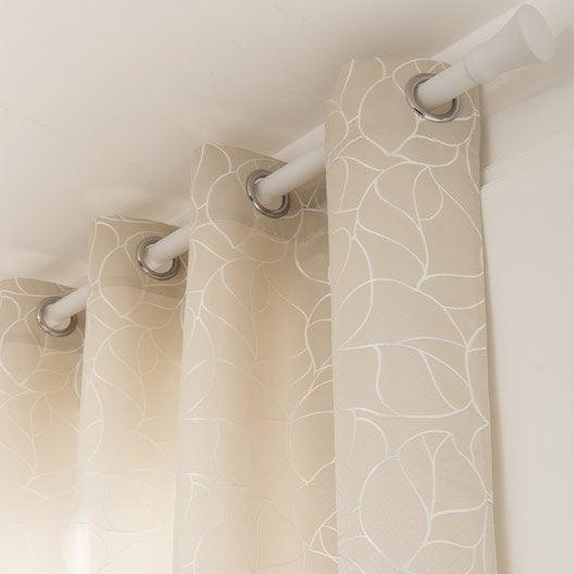 Rideau tamisant bali ivoire x cm inspire - Double rideaux leroy merlin ...