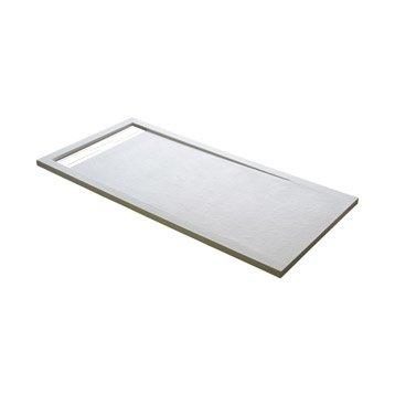 Receveur de douche rectangulaire L.160 x l.90 cm, résine blanc Urban
