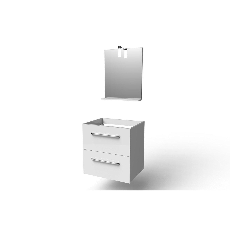 Meuble Sous Vasque Et Miroir L.59.0 X H.60.0 X P.