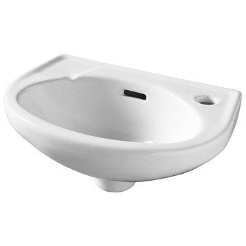 Lave-mains céramique blanc l.35 x P.23 cm, Murcie