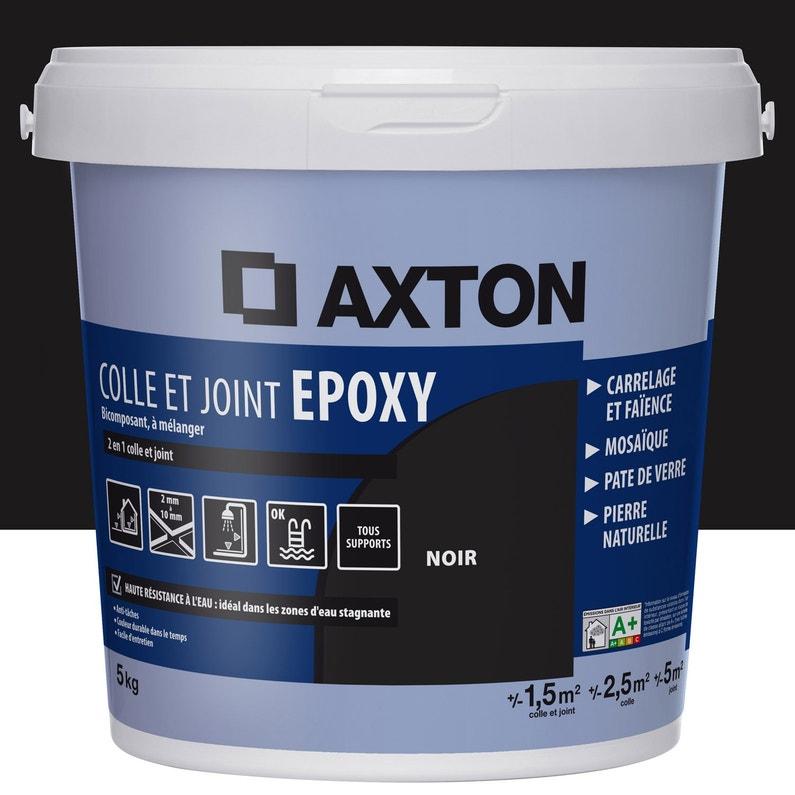 Colle Et Joint époxy Axton Mur Et Sol Noir2m² 5kg