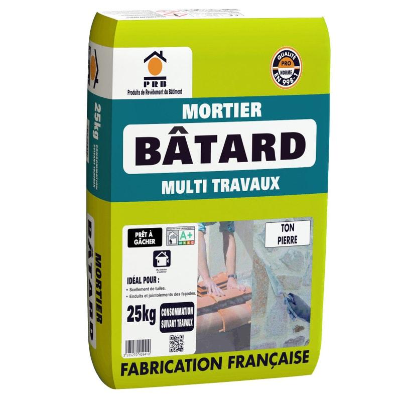 Mortier Bâtard Multiusage Mur Et Sol Ton Pierre Prb 25 Kg