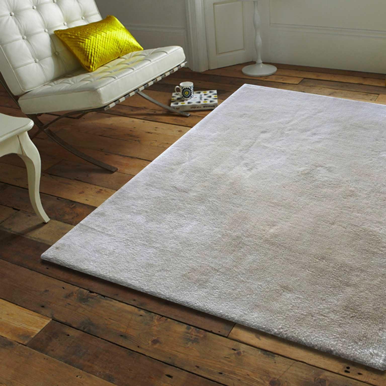 Tapis beige rectangulaire, l.60 x L.110 cm Teddy