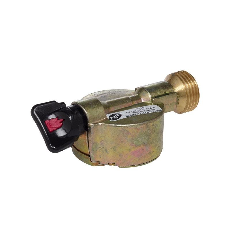 Robinet Adaptateur Gaz Butane Propane Pour Elfi Et Twinny X Diam20mm Gazinox