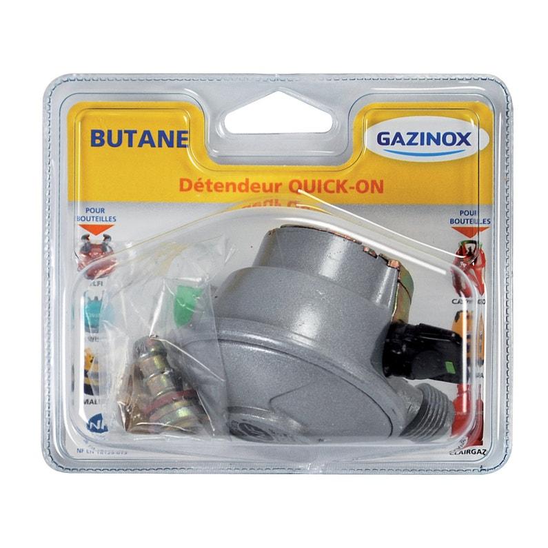 Détendeur Inox Gaz Butane 5 H65 Cm Gazinox