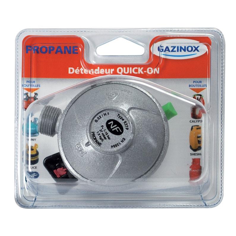 Détendeur Inox Gaz Propane 5 H65 Cm Gazinox