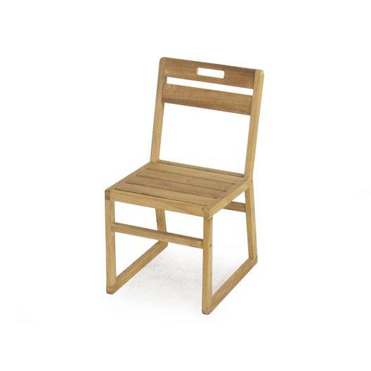 chaise de jardin en bois resort naturel leroy merlin. Black Bedroom Furniture Sets. Home Design Ideas
