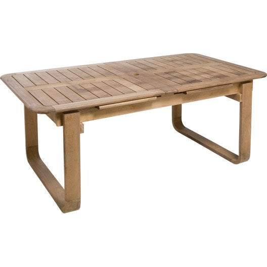 Table de jardin naterial resort rectangulaire naturel 6 8 for Table exterieure carree 8 personnes