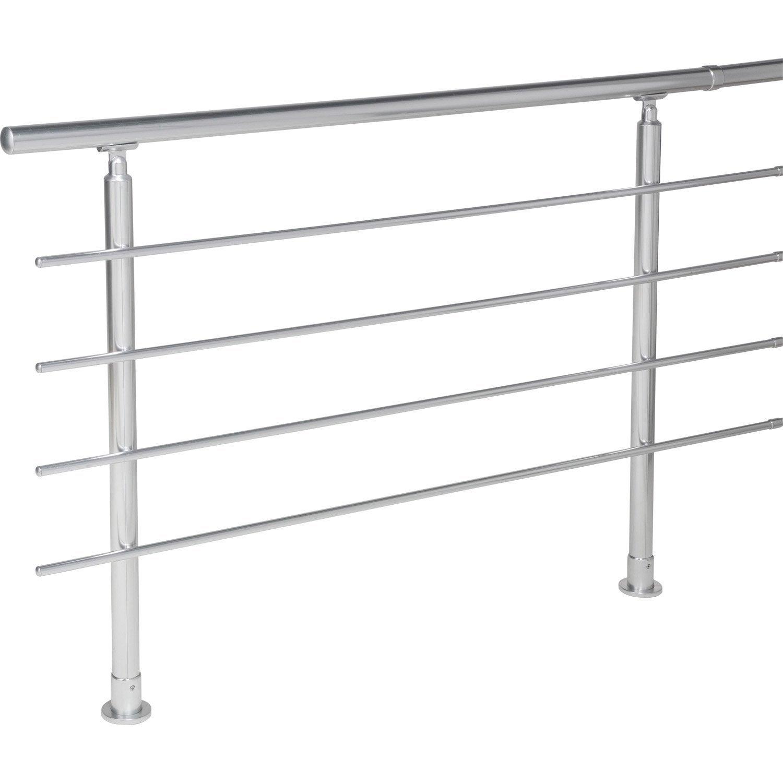 kit rampe en acier pour escalier gomera droit leroy merlin. Black Bedroom Furniture Sets. Home Design Ideas