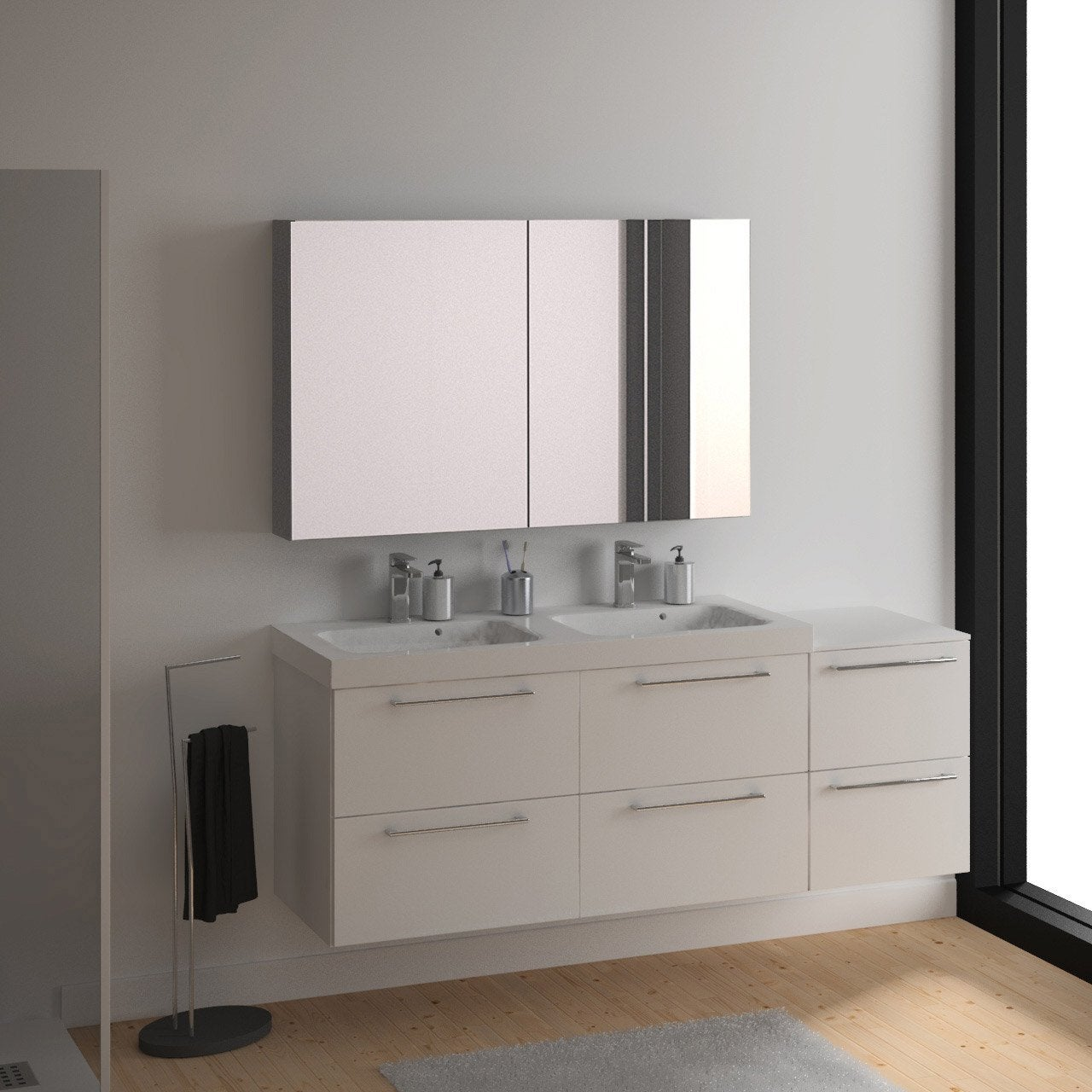 meuble vasque 121 cm blanc remix leroy merlin. Black Bedroom Furniture Sets. Home Design Ideas