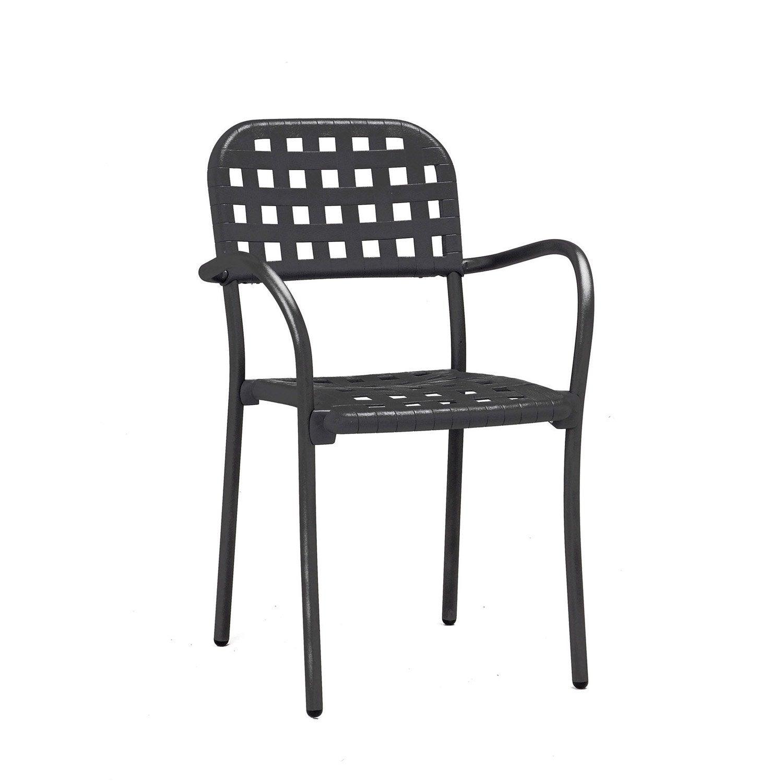 fauteuil de jardin en r sine plastique aurora gris anthracite leroy merlin. Black Bedroom Furniture Sets. Home Design Ideas